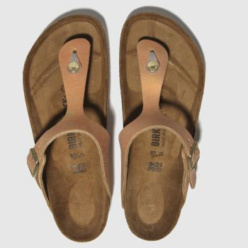 Birkenstock Bronze Gizeh Washed Metallic Womens Sandals
