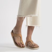 Birkenstock gizeh washed metallic 1