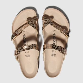 birkenstock bronze metallic stones sandals