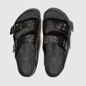 BIRKENSTOCK Black Metallic Stones Womens Sandals