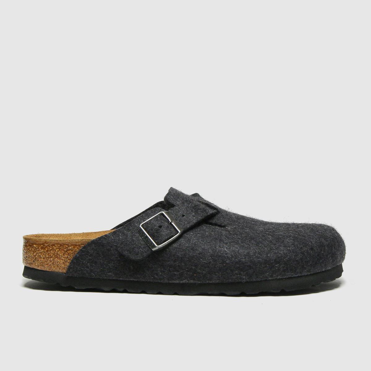 BIRKENSTOCK Dark Grey Boston Sandals