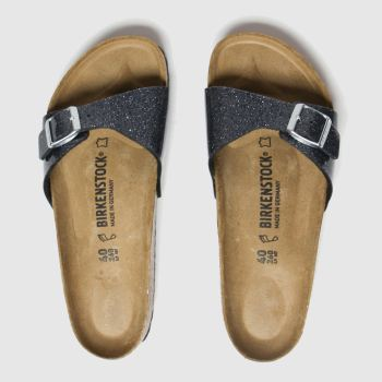 Birkenstock Dark Grey Cosmic Sparkle Madrid Womens Sandals