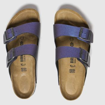 Birkenstock Purple Icy Metallic Arizona Womens Sandals