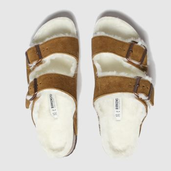 Birkenstock Tan Arizona Shearling Womens Sandals