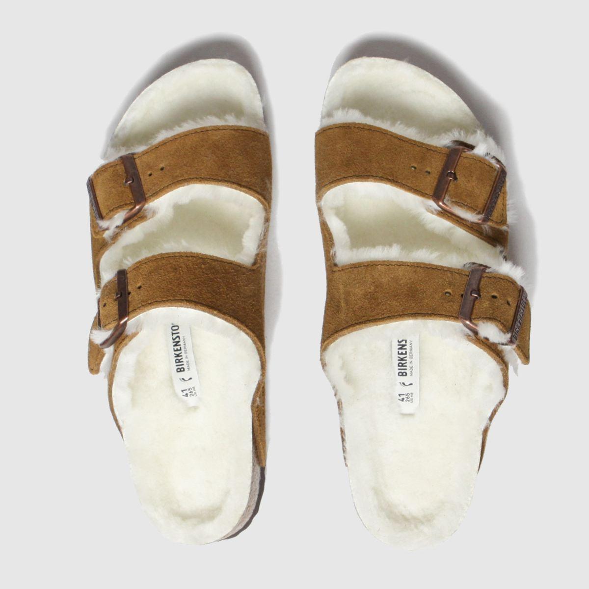 Birkenstock Tan Arizona Shearling Sandals