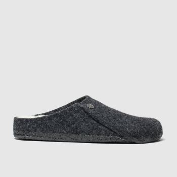 Birkenstock Black Zermatt Shearling Womens Slippers