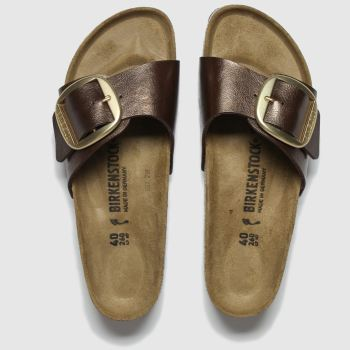 birkenstock brown madrid big buckle sandals