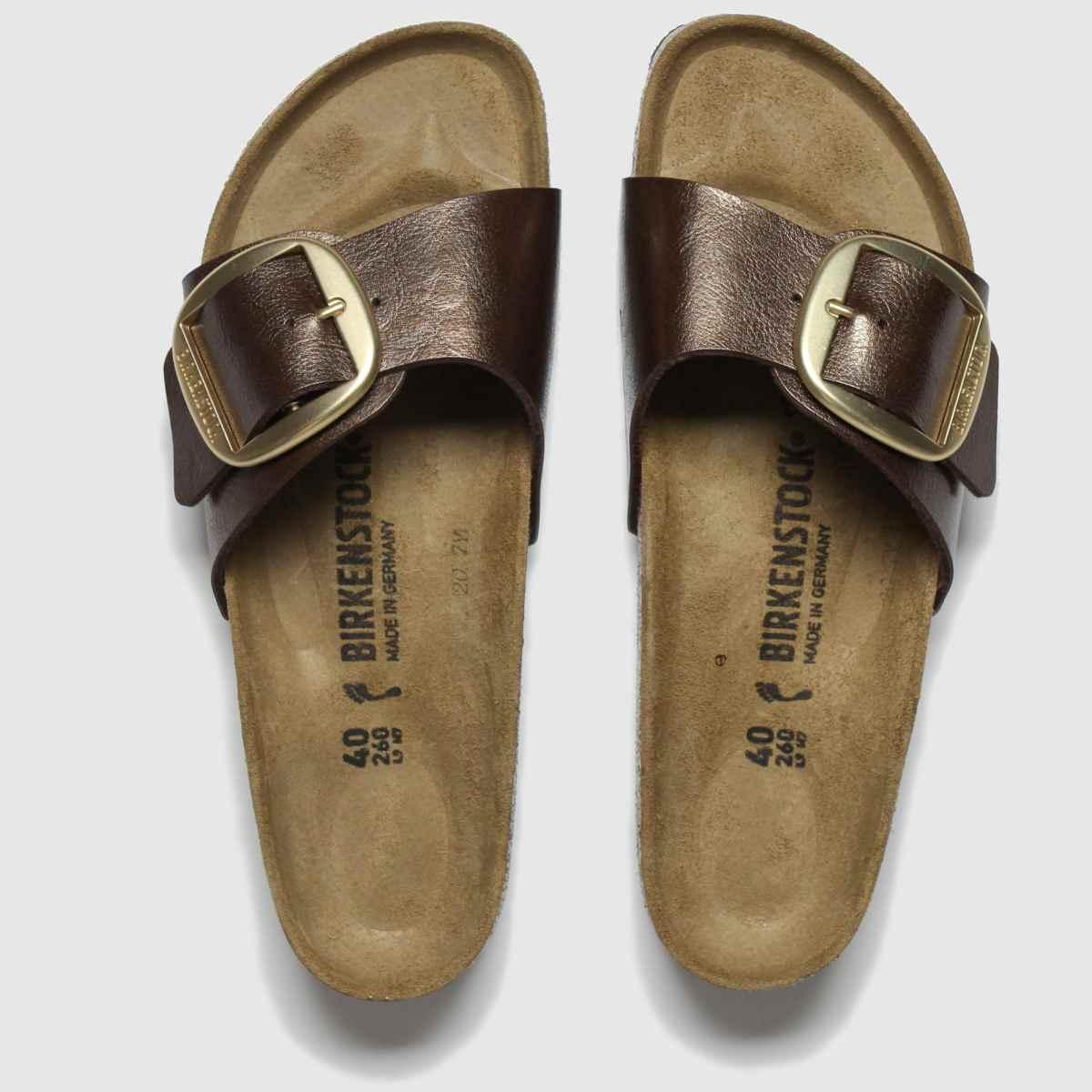 Birkenstock Brown Madrid Big Buckle Sandals
