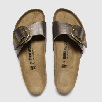 Birkenstock Bronze Madrid Big Buckle Womens Sandals#