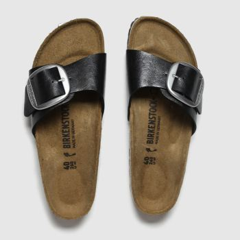 Birkenstock Black Madrid Big Buckle Womens Sandals#