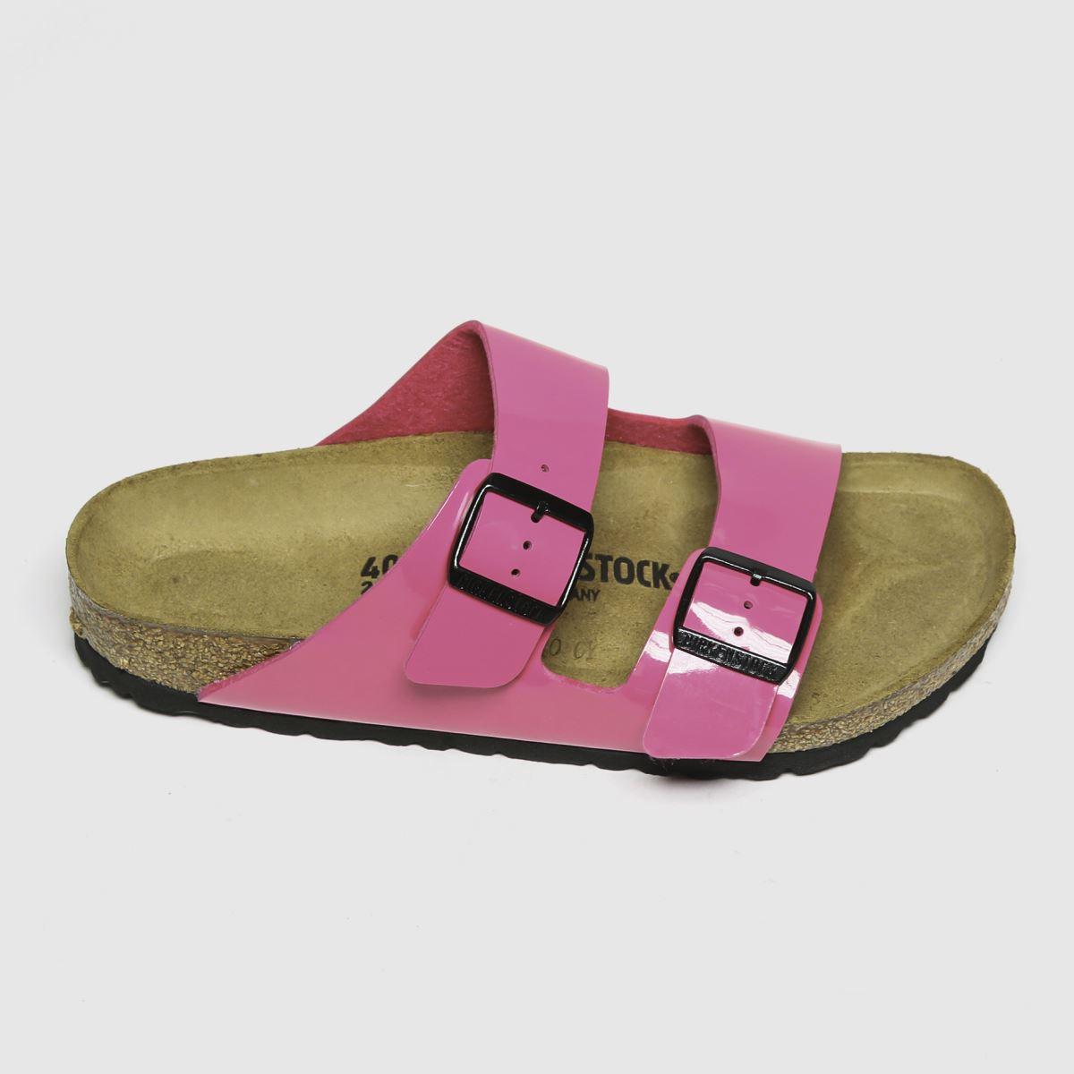 Birkenstock Pink Arizona Patent Sandals
