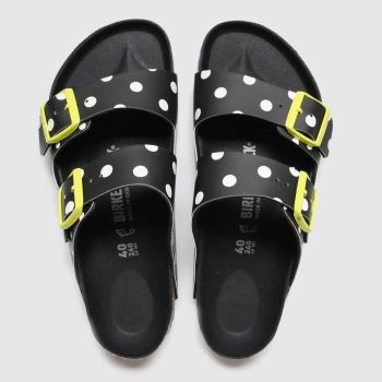 Birkenstock Black & White Arizona Dots Womens Sandals