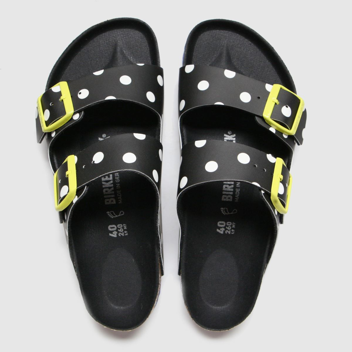 Birkenstock Black & White Arizona Sandals