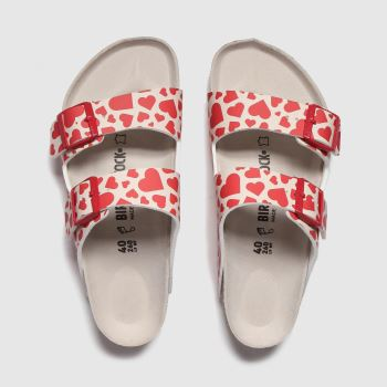 Birkenstock Red Arizona Hearts c2namevalue::Womens Sandals