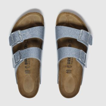 Birkenstock Silver Arizona Womens Sandals#