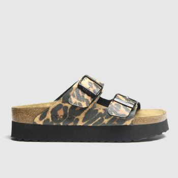 Birkenstock Brown & Black Papillio Arizona Leo c2namevalue::Womens Sandals