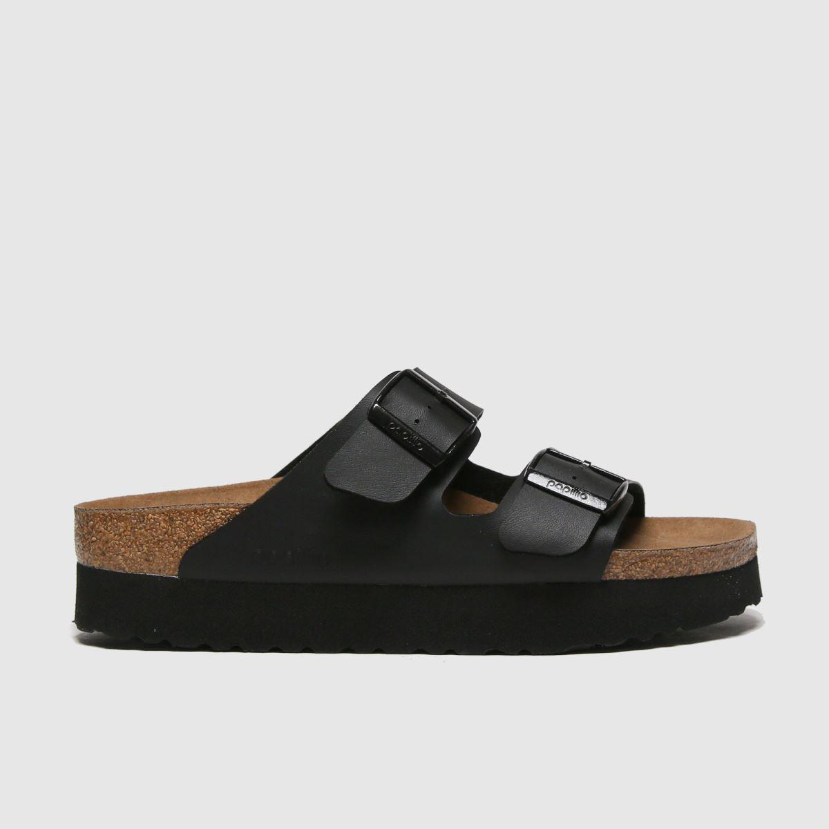 Birkenstock Black Papillio Platform Vegan Sandals