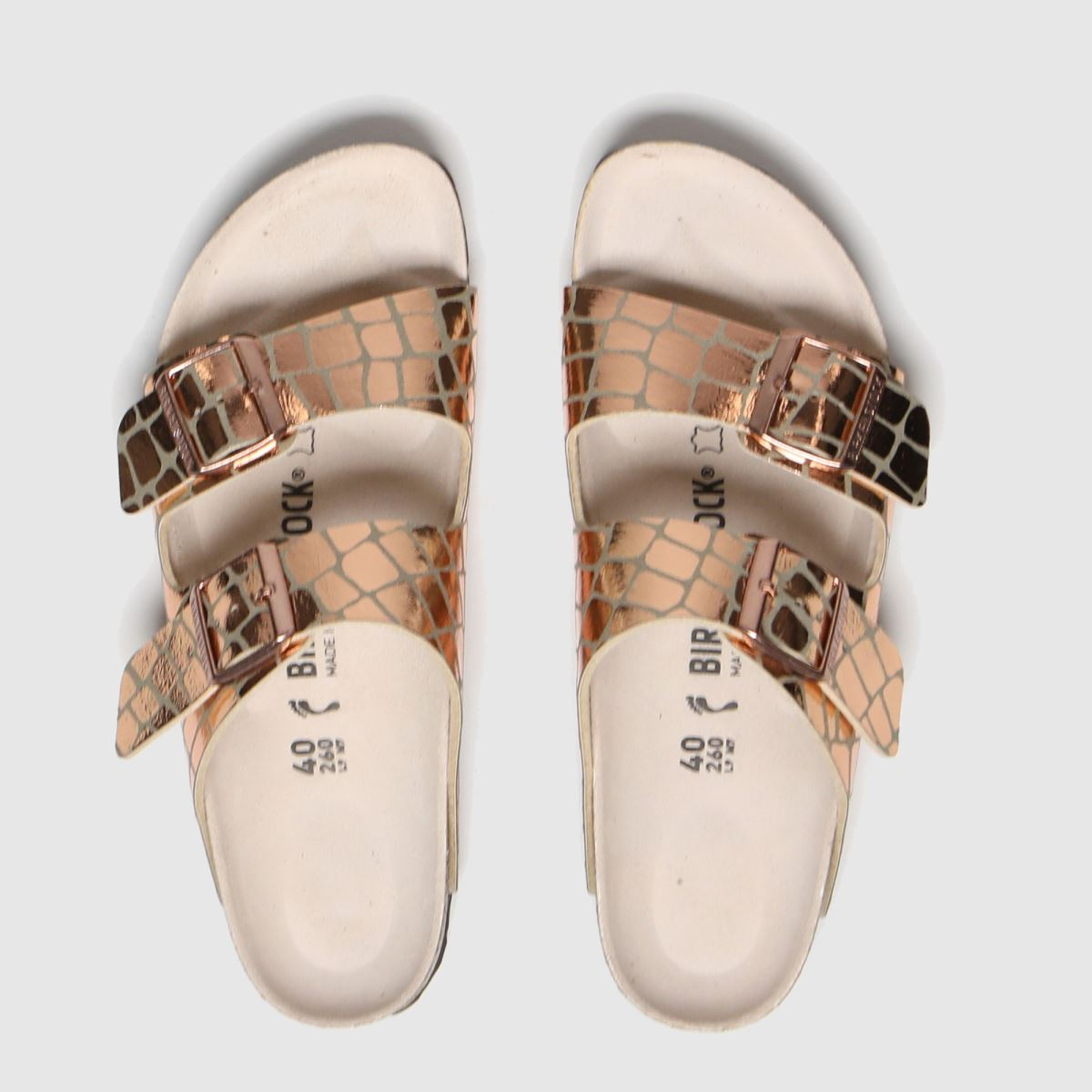 Birkenstock Gold Arizona Gator Gleam Sandals