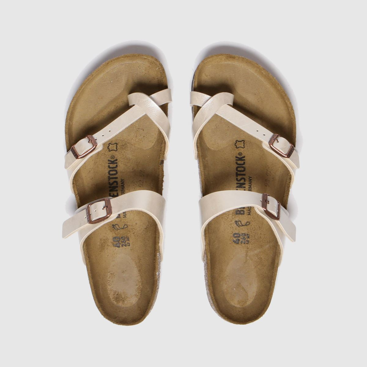 Birkenstock Silver Mayari Cross Strap Sandals