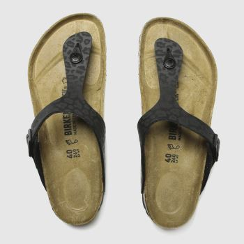 Birkenstock Black Gizeh Toe Thong Womens Sandals#
