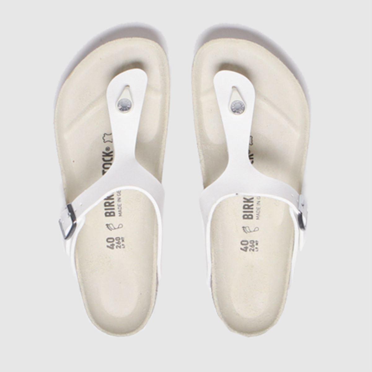 Birkenstock White Birk Gizeh Bf Sandals
