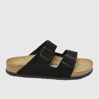 BIRKENSTOCK Black Arizona Suede Womens Sandals