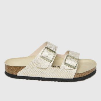 BIRKENSTOCK Natural Arizona Shiny Python Womens Sandals