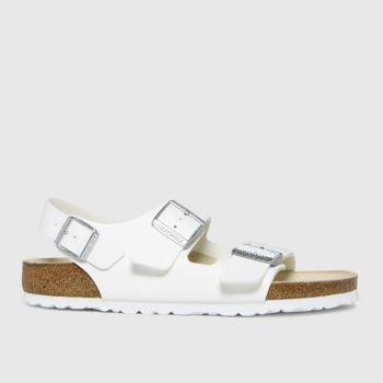 BIRKENSTOCK White Milano Womens Sandals