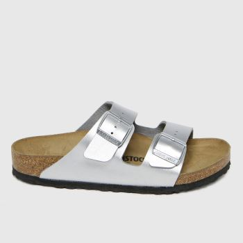 BIRKENSTOCK Silver Arizona Womens Sandals