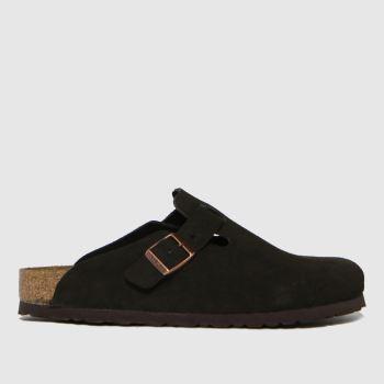 BIRKENSTOCK Brown Boston Womens Sandals