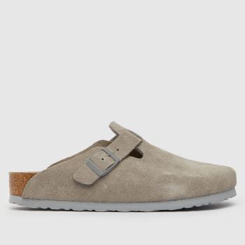 BIRKENSTOCK Grey Birk Boston Womens Sandals