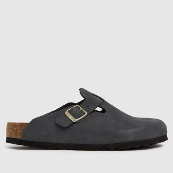 BIRKENSTOCK Dark Grey Boston Womens Sandals