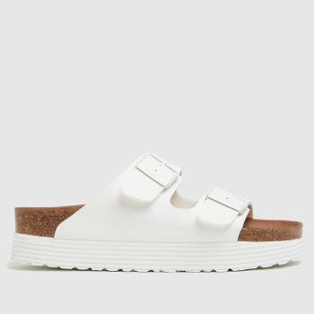 BIRKENSTOCK White Papillio Vegan Womens Sandals