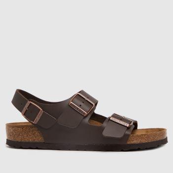 BIRKENSTOCK Brown Milano Womens Sandals