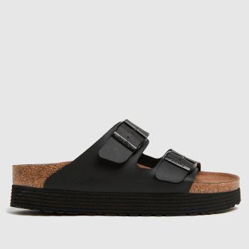 BIRKENSTOCK Black Papillio Grooved Vegan Womens Sandals