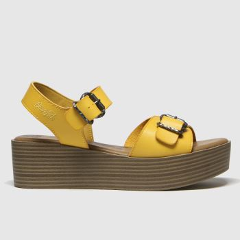 Blowfish Malibu Yellow Leeds Vegan Womens Sandals#