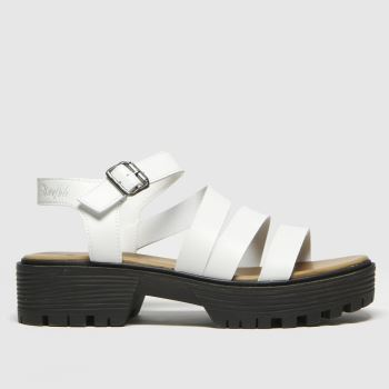 Blowfish Malibu White Erwyn Vegan Womens Sandals