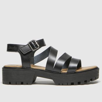 Blowfish Malibu Black Erwyn Vegan Womens Sandals