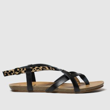 Blowfish Malibu Black & Brown Granola B Vegan Womens Sandals#