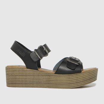 Blowfish Malibu Black Leeds Vegan Womens Sandals