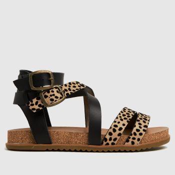 Blowfish Malibu Black & Brown Fandie Vegan Womens Sandals