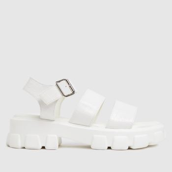 schuh White Tamia Croc Chunky Cleated Womens Sandals