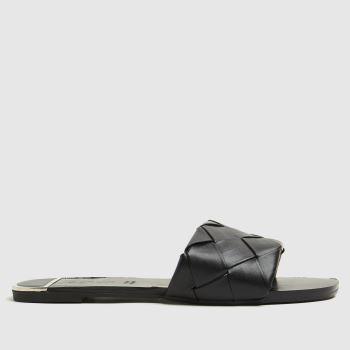 schuh Black Tristine Weave Mule Womens Sandals