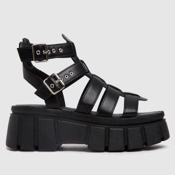 schuh Black Tami Chunky Womens Sandals