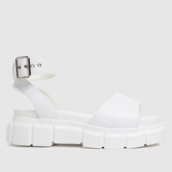 schuh White Trilary Chunky Womens Sandals
