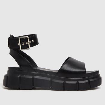 schuh Black Trilary Chunky Womens Sandals