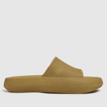 schuh Khaki Hanie Mule Womens Sandals
