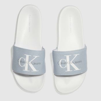 Calvin Klein Pale Blue Chantal Heavy Canvas Sandals