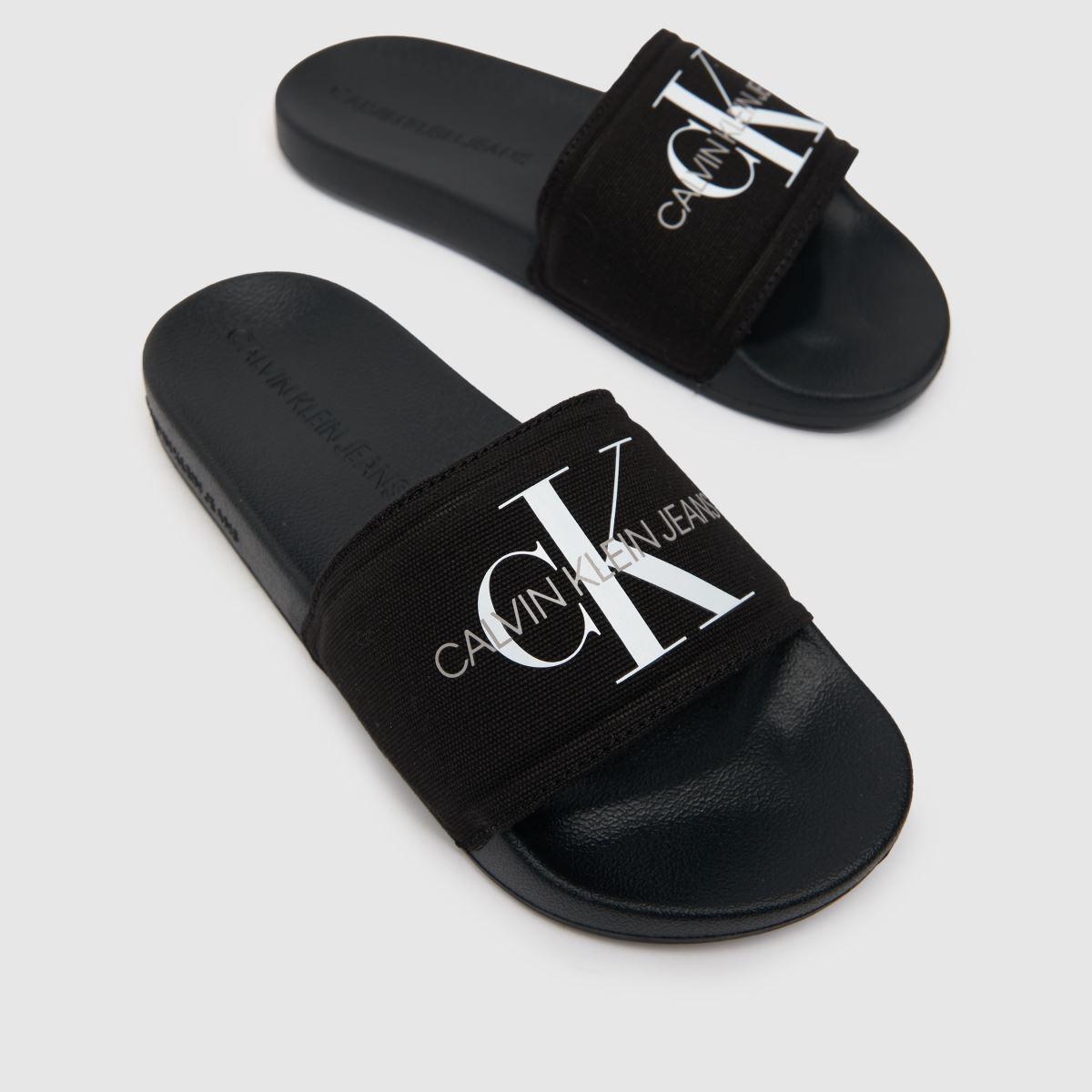 Damen Schwarz-weiß calvin Canvas klein Jeans Chantal Heavy Canvas calvin Sandalen | schuh Gute Qualität beliebte Schuhe fa0d52