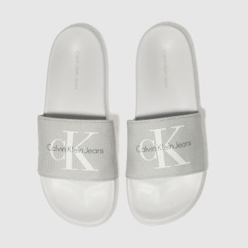 calvin klein grey jeans chantal heavy canvas sandals